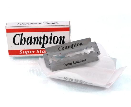 champion double edge blades
