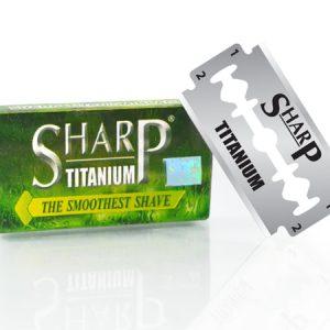 sharp titanium double edge blade