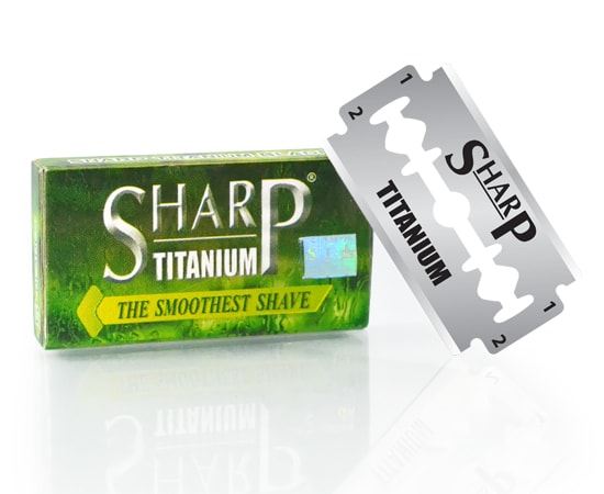 sharp titanium double edge blade -3
